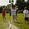 Eli Bashant's rocket flys into the air at Ballston Spa Middle school