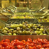 (090107): ACT_RocheBrosOliveBar-- A variety of Olive mixes/blends is available at the self-serve Antipasto bar in Roche Brothers Super Market; Acton, Ma. .SUN/Amanda-Beth Potter..DIG IM/3174