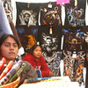 """(091507):BED_NativeAmericanPowWow-- Front & Rear are, Tupac 21 of Equador and his cousin Rumi-Nahui 26, also of Equador. The two proprietors are named after South American Incan warriors. Their booth, """"Yarina"""" meaning; remembrances from Equador, sells graphic T's and other Native American inspired apparel. DIG IM No.3275...SUN Photo by Amanda-Beth Potter"""