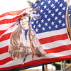 """(091507):BED_NativeAmericanPowWow-- """"The Colors"""" of the Native American Flag proudly wave in Bedford Ma., at the 25th annual Native American Pow Wow, sponsored by the Greater Lowell Indian Cultural Association. DIG IM No.3275...SUN Photo by Amanda-Beth Potter"""