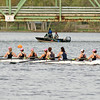 The Saratoga Women's Varsity Eight crew boat during Sunday's regatta. Photo Eric Jenks, 4/25/10