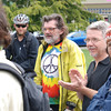 "Jose Quezada/For the Times-Standard<br /> <br /> JR Anderson is recognized for making the longest bicycle commute to the rally, riding 103 1/2 miles from Whitethorn. Humboldt County Board of Supervisor Mark Lovelace, applauding to the right of Anderson, left moments later with his helmet and bike to put on the Humboldt Transit Authority bus to take to Eureka.<br /> <br /> The weather was perfect for a bicycle ride, just the right time to feature a Bike-to-Work day. Cycling commuters gathered for a rally at the McKinley statue at the Arcata Plaza. Folks participated in bicycle contests, including a ""slowest"" race with the winner coming in last. Bike commuters also enjoyed free tire maintenance checks, and helmet and bicycle adjustments.  A raffle capped the event sponsored by the Humboldt Bay Bicycle Commuters Association."