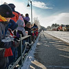 Anxious Children watch Sunday Morning while the Toys for Tots train pulls into the Saratoga Train Station. Photo Eric Jenks 12/5/09