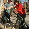 Jacob and Hannah Thompson help clean up for the Giving Circle's rennovation of the  Frederick Allen Lodge at<br /> 69 Beekman St Sunday Afternoon. Photo Eric Jenks 11/8/09