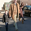 Scott Murphy walks out of the Glens Falls Highschool with his family after voting Tuesday Morning. Photo By Eric Jenks 11/2/10