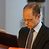 David Hyde Pierce performing during the dedication service and public recital at the Bethesda Episcopal Church in Saratoga Springs Sunday afternoon. Photo Eric Jenks 10/11/09