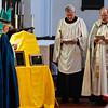 Retired Bishop, The Right Rev. David S. Ball, The Rev. Paul Evans and the Rev. Canon Thomas t. Parke bless the plaques of the new chimes and the renovated organ at Bethesda Episcopal Church Sunday Afternoon. Photo Eric Jenks 10/11/09
