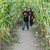 José Quezada/For the Times-Standard<br /> <br /> Jonathan Alvarado, 9, and his sister Monse Alvarado, 8, joined a bunch of corn stalkers finding their way through a nine acre corn maze on Sunday at Christie's Ranch in Blue Lake.