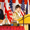 "(022608):LOW_BoyScoutsAward;Cowan---Massachusetts State Senator Steven Panagiotakos looks in as Eagle Scout, Tyler Burns, 14, of Lowell and member of the Yankee Clipper Council, Boy Scouts Troupe #26, reads his essay on ""What Scouting Means to Me"" at the 2008 Distinguished Citizen Award ceremony in honor of Dr. Carole A. Cowan, President of Middlesex Community College....DIG IM No.0376. SUN Photos by Amanda-Beth Potter"