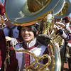 102109 :State Marching Band Finals : LOW_Brass section member of LHS marching band Princess Chan and ban mates are set to go, Sunday afternoon at Cawley Stadium. _Sun Photo Bob Whitaker_DIG#2040