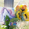 José Quezada/For the Times-Standard<br /> <br /> Flowers and personal message cards have been accumulating since the tragic hit-and-run accident on Myrtle Avenue, near Ole Hanson Road in the Indianola community area.
