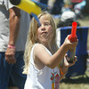 Shaun Walker/The Times-Standard<br /> <br /> Felicia Garza, 7, of Eureka played with a new friend during the festival.