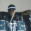 Shaun Walker/The Times-Standard<br /> <br /> Lavell Jones beat on the skins in Zach Harmon's band.
