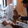 Mark McKenna/ The Times-Standard<br /> Pediatric Nephrologist Dr. Farzana Perwod, right, checks on Jessiah Class and his mother Kim following a kidney transplant in the Pediatric Intensive Care Unit at UCSF Medical Center in San Francisco.
