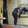 Mark McKenna/The Times-Standard<br /> Eureka Police Officers enter a house at 112 Del Norte during a search for Jay Xanadu Eddington. He was fleeing officers when he entered the house on across the street from the Senior Center.