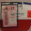 Mark McKenna/ The Times-Standard<br /> Blood matched for Jessiah Class sits ready in and ice chest should it be needed during a kidney transplant operation at UCSF Medical Center.