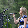 "Josh Jackson/The Times-Standard<br /> <br /> Ali Gaube sings ""Only Hope""  during the opening ceremonies of the 2007 Relay for Life at College of the Redwoods on Friday."