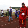 Josh Jackson/The Times-Standard<br /> <br /> Jeff Sousa makes laps dressed as a blood polyph duing the 2007 Relay for Life at College of the Redwoods on Friday.