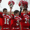 Shaun Walker/The Times-Standard <br /> <br /> Ferndale players salute their fans after their playoff victory.