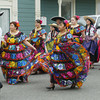 Shaun Walker/The Times-Standard<br /> <br /> Costumed participants parade down Main Street during Cinco de Mayo festivities in Ferndale on Saturday morning. After the parade, there was food, music, and dancing at the fairgrounds.