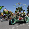 Shaun Walker/The Times-Standard<br /> <br /> Visualize Whirled Peas, foreground, races with Gladys the Green Giraffe during the Kinetic Grand Championship in Arcata on Saturday.