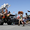 Shaun Walker/The Times-Standard<br /> <br /> Kooky team members chase after Classical Nudes at the start of the Kinetic Grand Championship in Arcata on Saturday.