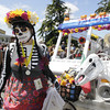 Shaun Walker/The Times-Standard<br /> <br /> Natalie Arroyo of Eureka and Dia de los Tacos get ready for the start of the Kinetic Grand Championship in Arcata on Saturday.