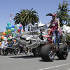 Shaun Walker/The Times-Standard<br /> <br /> Sculptures race side by side at the Kinetic Grand Championship in Arcata on Saturday.