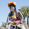 Shaun Walker/The Times-Standard<br /> <br /> Natalie Arroyo of Dia de los Tacos get ready for the start of the Kinetic Grand Championship in Arcata on Saturday.