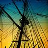 Tall ship sunset