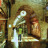 The Chelsea Market occupies one full city block, so archways are cut through the original buildings inbetween.