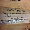 The Chelsea Market has a book exchange, with…well, some very specific rules or requests.