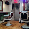 You'll have the best straight razor shave of your life in a vintage barber chair