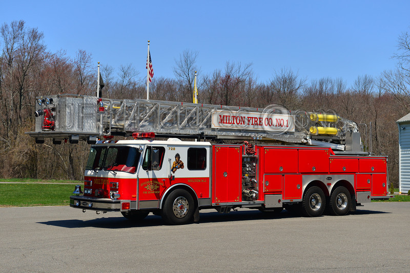 JEFFERSON TWP (MILTON) TOWER LADDER 728 - 1991 EMERGENCY ONE 1500/200/95'