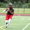 Romulus High School hosted a 7-on-7 session Tuesday evening, which included rival Robichaud and Melvindale. Photos by Matt Thompson, Copyright 2015 The News-Herald and Press & Guide