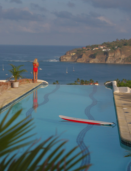 The Lap Pool features amazing views of the bay and the town of San Juan Del Sur