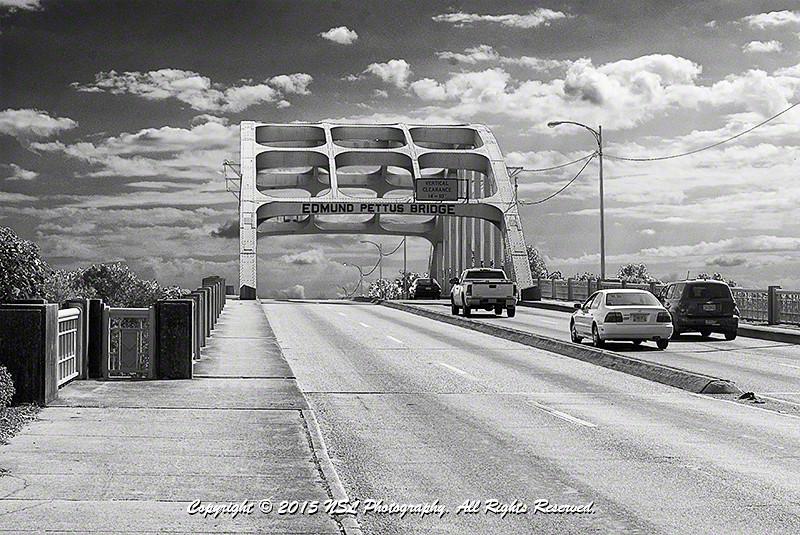 Edmund Pettus Bridge, U.S. Route 80, Selma, Alabama, on March 7, 1965, the site of Bloody Sunday