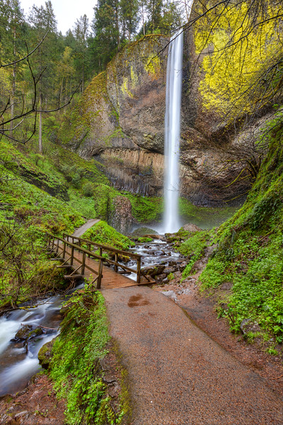 Another Icon of the Columbia River Gorge Waterfalls Latourell Falls
