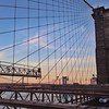 Sun beginning to set along the Brooklyn Bridge2