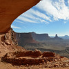 Pat looking out from False Kiva