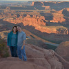 Lisa and Pat at Dead Horse Point Overlook (river bend side)