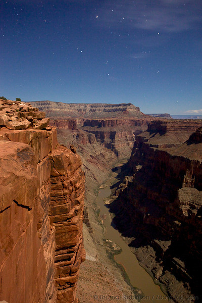 """The stars hang over the Grand Canyon from the Tuweep / Toroweap Overlook at night along the western side of the North Rim. The Toroweap Overlook stands 3000 vertical feet above the Colorado River. <br /> <br /> 'Tuweep in Paiute refers to """"the earth,"""" but this place name may be derived from a longer Paiute word meaning """"long valley.""""'<br /> - <a href=""""http://www.nps.gov/grca/planyourvisit/tuweep.htm"""">http://www.nps.gov/grca/planyourvisit/tuweep.htm</a>"""