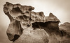"""Carved Like Sculpture: """"Remarkable Rocks"""" in Sepia, Kangaroo Island, South Australia 2014<br /> <br /> ©Gerald Diamond<br /> All rights reserved"""