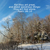 Winter Scene with Scripture