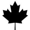 Maple leaf - black