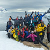 Here's the group that hiked up the snow-covered cliff to this amazing vantage point.