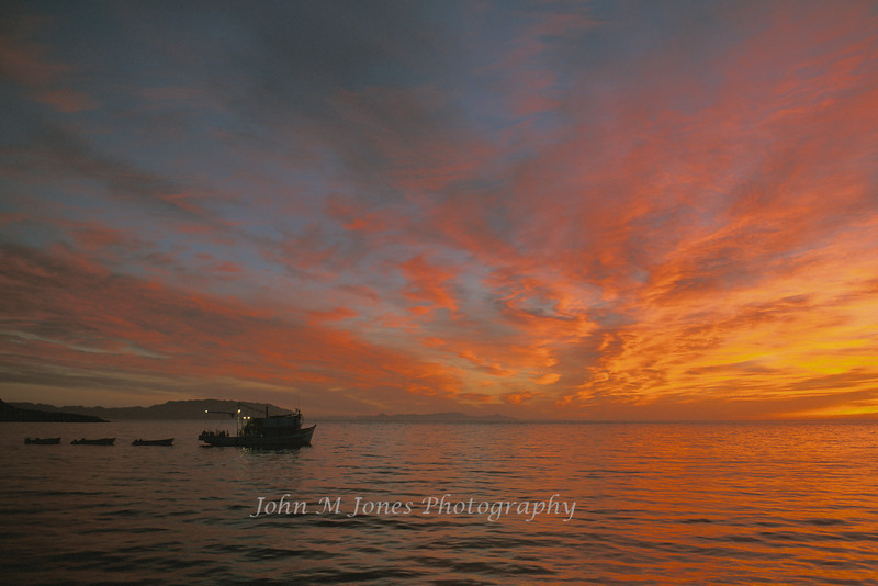 Mexican sport fishing boat at Dawn