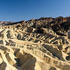 Eroded mountain ridges in afternoon light, from Zabriskie Point