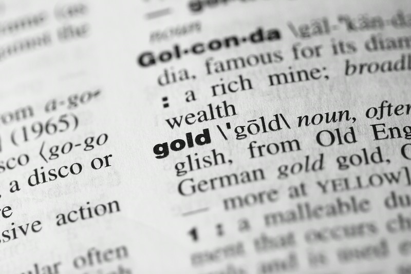 Dictionary Word: Gold