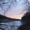 Dawn over an icy Potomac River
